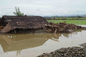Myanmar Flood damage Minbya Township