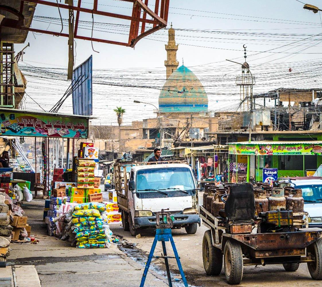 Market street in West Mosul, Iraq © IMPACT/2017