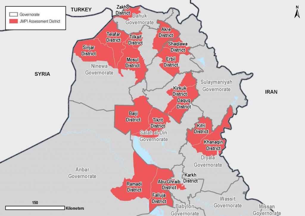 JPMI - All assessed districts since November 2016. Iraq ©REACH/2018