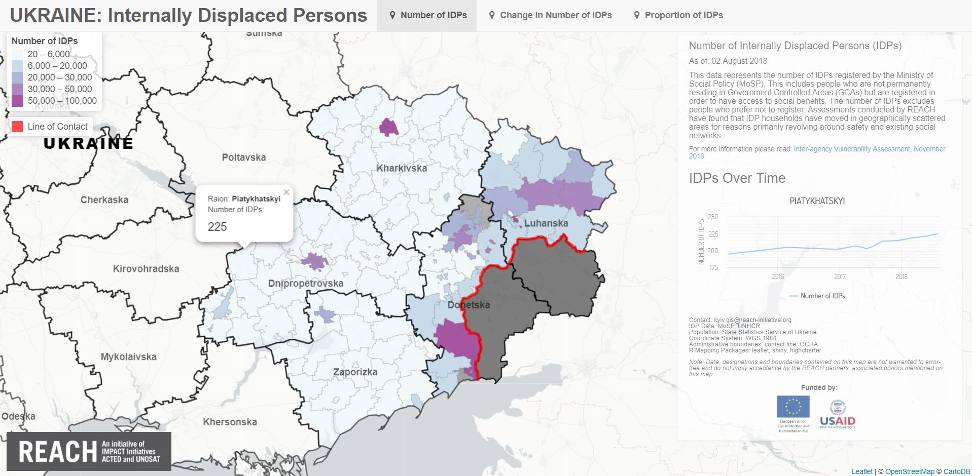 Ukraine: Making figures count − Visualizing displacement with an on
