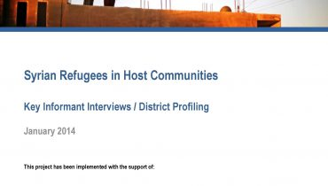 REACH Releases Key Informant & District Profiling Report for Syrian Refugees in Host Communities in Jordan