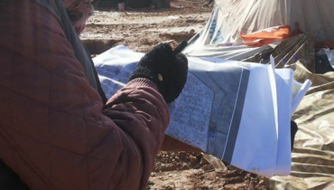 Rapid mapping of storm damage in Za'atari Camp, Jordan